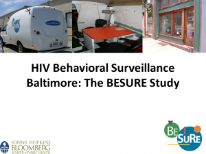 HIV Behavioral Surveillance Baltimore: The BESURE Study