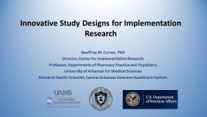 Innovative Study Designs for Implementation Research