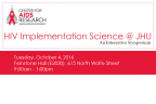 3rd Annual HIV Implementation Science @ JHU: An Interactive Symposium - Image