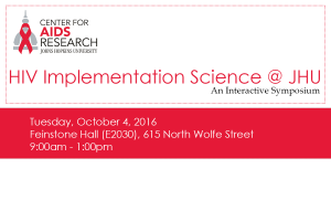 3rd Annual HIV Implementation Science @ JHU: An Interactive Symposium