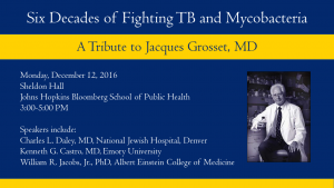 Six Decades of Fighting TB and Mycobacteria: A tribute to Jacques Grosset, MD