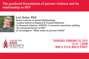 The gendered foundations of partner violence and its relationship to HIV