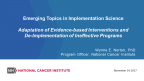 Adaptation of Evidence-based Interventions and De-Implementation of Ineffective Programs - Image