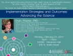 Implementation Strategies and Outcomes: Advancing the Science - Image