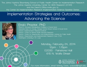 Implementation Strategies and Outcomes: Advancing the Science