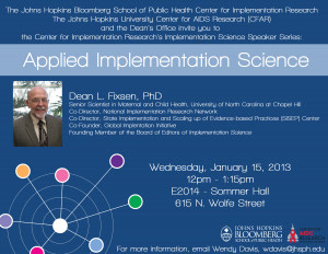 Applied Implementation Science
