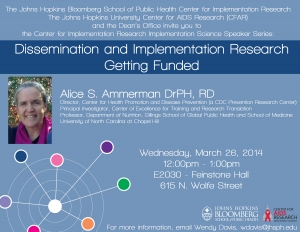 Dissemination and Implementation Research - Getting Funded
