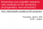Part 1: Mechanistic Models - Enhancing your scientific analyses with HIV dynamics - Image