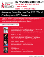Assessing Causality in a Post RCT World: Challenges to HIV Research - Image