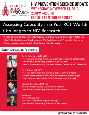 Assessing Causality in a Post RCT World: Challenges to HIV Research