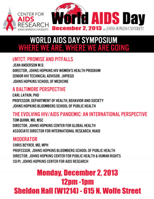 World AIDS Day Symposium: Where we are, where we are going